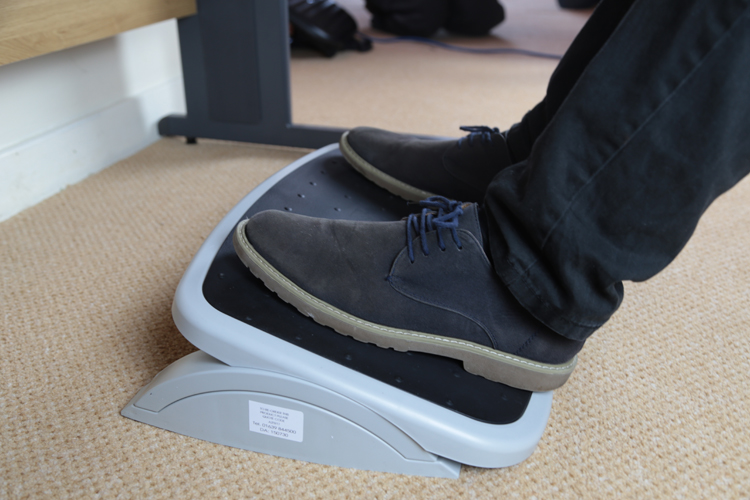 Improve your posture with a footrest