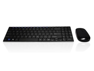 Sleek Keyboard & Mouse Set (Wireless)