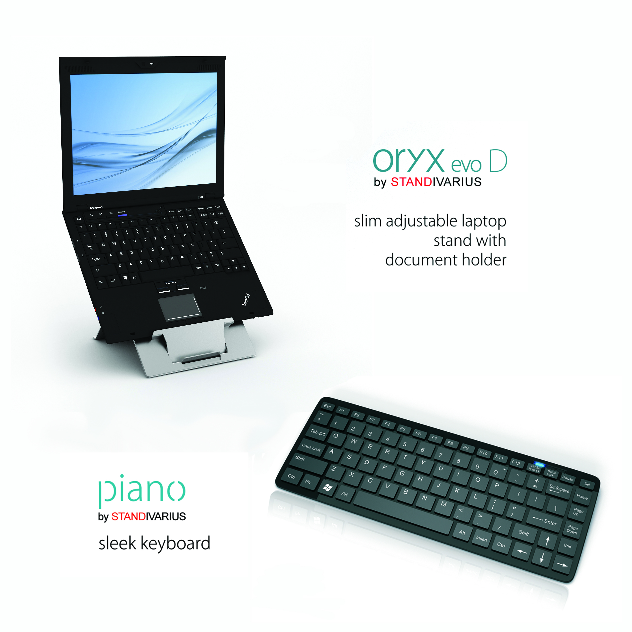 Oryx evo D Laptop Stand & Piano Keyboard Kit