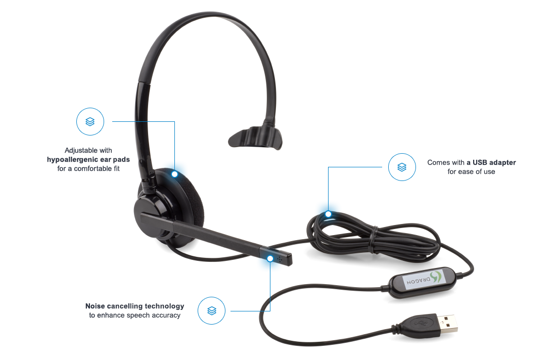 Nuance Analogue Monaural USB Headset