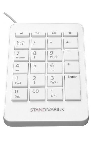 Standivarius Numeric Keypad - White