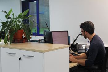 Ergonomic workstation at Swansea University